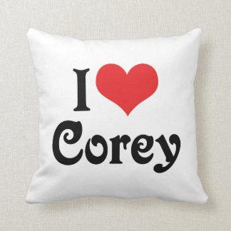 I Love Corey Cushion