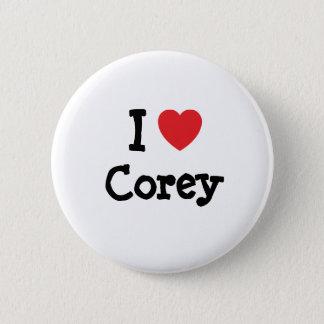 I love Corey heart T-Shirt 6 Cm Round Badge