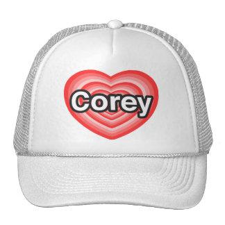 I love Corey. I love you Corey. Heart Mesh Hat