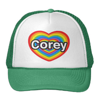 I love Corey. I love you Corey. Heart Trucker Hat