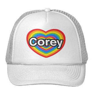 I love Corey. I love you Corey. Heart Hat