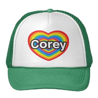 I love Corey. I love you Corey. Heart Hats