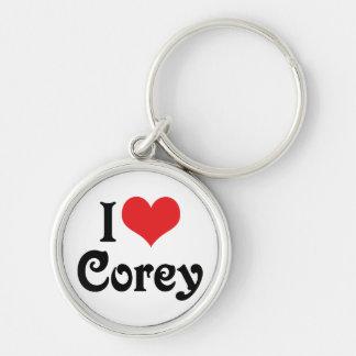 I Love Corey Keychains
