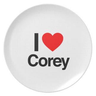 i love corey plate