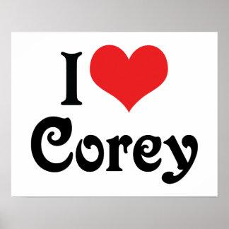 I Love Corey Poster