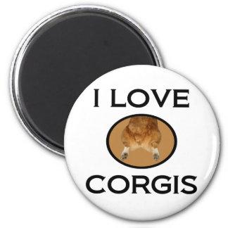 I Love Corgis Corgi Butt Magnet