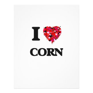 I love Corn 21.5 Cm X 28 Cm Flyer