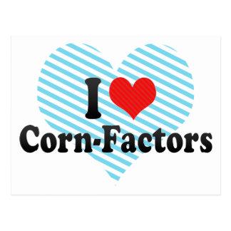 I Love Corn-Factors Post Cards