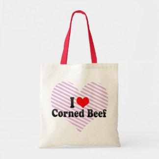 I Love Corned Beef Budget Tote Bag