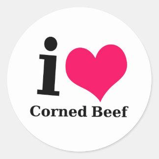 I love Corned Beef Round Sticker