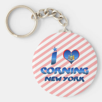 I love Corning, New York Key Ring