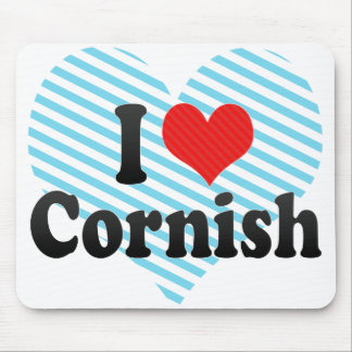I Love Cornish Mouse Pads