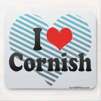 I Love Cornish Mouse Pad