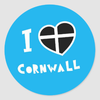 I love Cornwall Classic Round Sticker