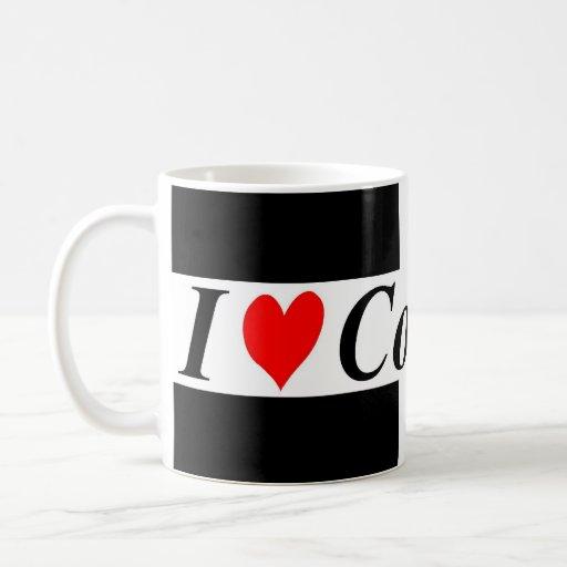 I Love Cornwall Flag Mug