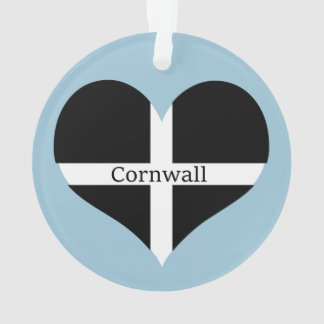 I Love Cornwall St Piran Flag Heart Design