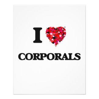 I love Corporals 11.5 Cm X 14 Cm Flyer
