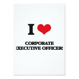 "I love Corporate Executive Officers 5"" X 7"" Invitation Card"