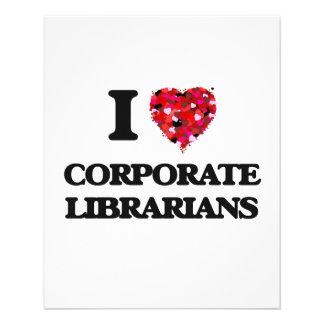 I love Corporate Librarians 11.5 Cm X 14 Cm Flyer