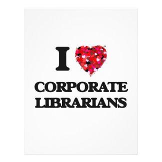 I love Corporate Librarians 21.5 Cm X 28 Cm Flyer