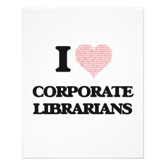 I love Corporate Librarians (Heart made from words 11.5 Cm X 14 Cm Flyer