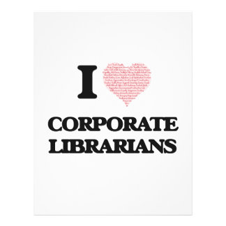 I love Corporate Librarians (Heart made from words 21.5 Cm X 28 Cm Flyer