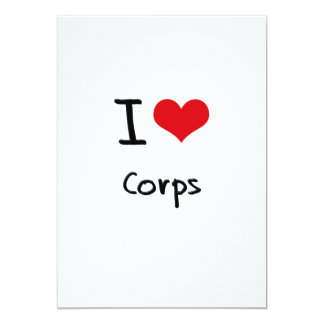 "I love Corps 5"" X 7"" Invitation Card"