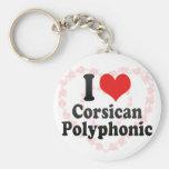 I Love Corsican+Polyphonic Keychain