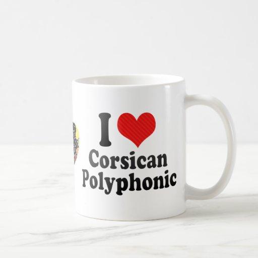 I Love Corsican+Polyphonic Classic White Coffee Mug