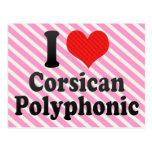 I Love Corsican+Polyphonic Postcard