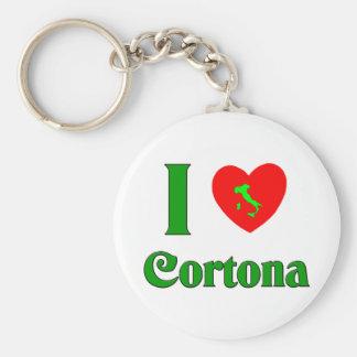 I Love Cortona Italy Basic Round Button Key Ring