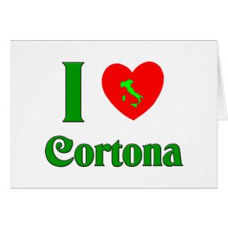 I Love Cortona Italy Card