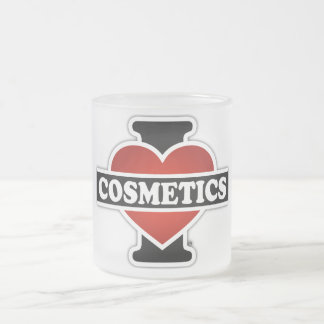 I Love Cosmetics Frosted Glass Mug