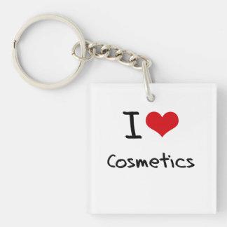 I love Cosmetics Single-Sided Square Acrylic Key Ring