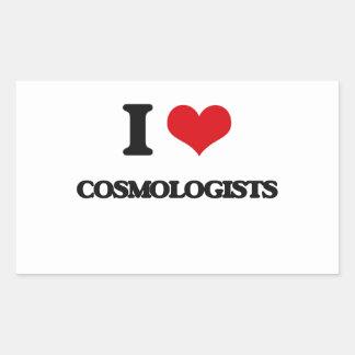 I love Cosmologists Rectangular Sticker