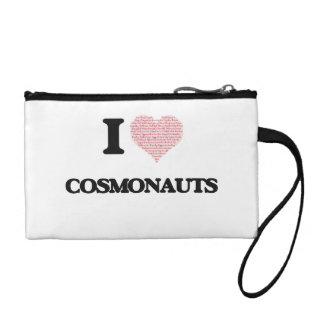 I love Cosmonauts (Heart made from words) Coin Wallet