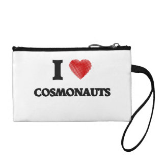 I love Cosmonauts (Heart made from words) Coin Wallets
