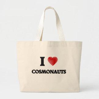 I love Cosmonauts (Heart made from words) Jumbo Tote Bag