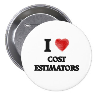 I love Cost Estimators (Heart made from words) 7.5 Cm Round Badge