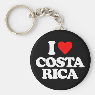 I LOVE COSTA RICA BASIC ROUND BUTTON KEY RING