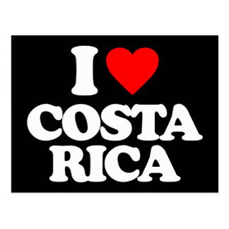 I LOVE COSTA RICA POSTCARD