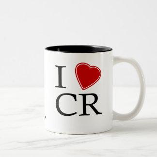 I Love Costa Rica Two-Tone Coffee Mug