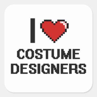 I love Costume Designers Square Sticker