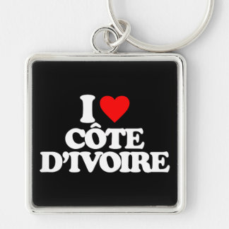 I LOVE CÔTE D'IVOIRE KEY CHAIN