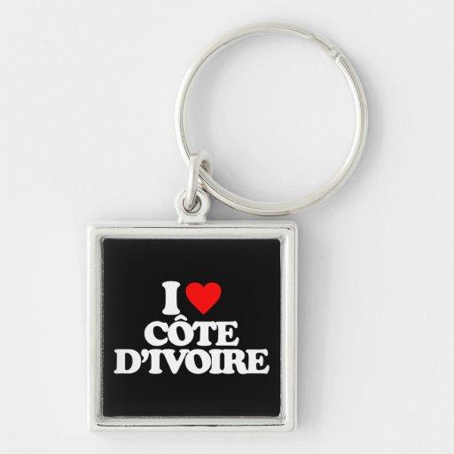 I LOVE CÔTE D'IVOIRE KEYCHAINS