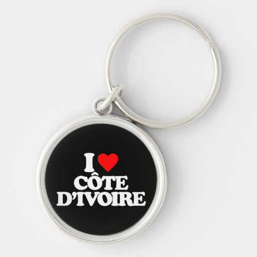 I LOVE CÔTE D'IVOIRE KEY CHAINS