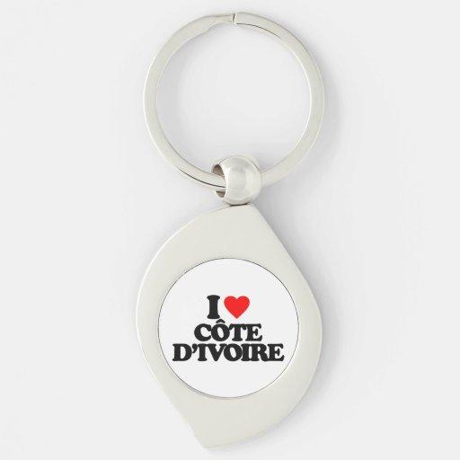 I LOVE CÔTE D'IVOIRE KEY CHAIN