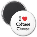 I love Cottage Cheese heart T-Shirt Magnet