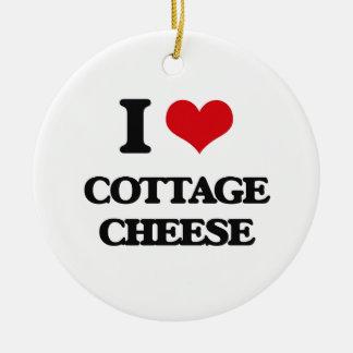 I love Cottage Cheese Round Ceramic Decoration