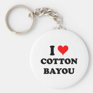 I Love Cotton Bayou Basic Round Button Key Ring